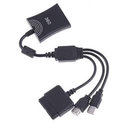 PS2 To PS3 Xbox 360 Controller Converter Adapter Cable