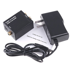 Digital   Optical Coaxial to Analog RCA Audio   Converter