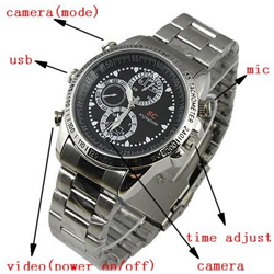 32GB   Waterproof Spy Watch HD Camera 1280x960 Hidden 