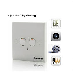 Security Wall Switch DVR Camera Detector Spy Hidden Motion Detection 