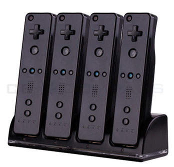 Remote Controller Charger +4 x Battery for Wii
