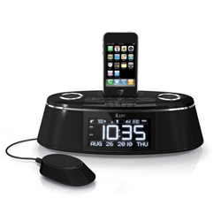 New iLuv Vibe Plus Bed Shaker Dual Alarm Clock Dock for iPhone & iPod iMM178