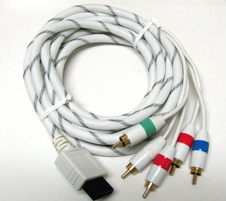 Component HDTV AV Audio Video 5RCA Adapter WHITE Cable 4 Wii 6FT NEW