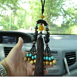 The new car pendant Tibetan style ebony Ssangyong ornaments brave car linked to the automotive supplies Jushi